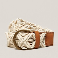 AEO Macrame Belt | American Eagle Outfitters
