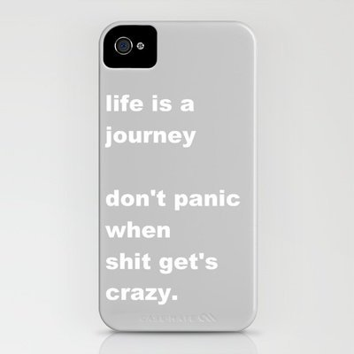 shit gets crazy iPhone Case by Romi Vega | Society6