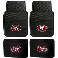 NFL San Francisco 49ers Car Floor Mats Heavy Duty 4-Piece Vinyl - Front and Rear : Amazon.com : Automotive