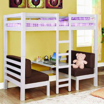 Twin Convertible Loft Bed: Home & Kitchen
