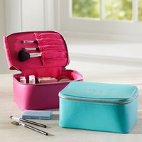 Girls Classic Leather Make-Up Case