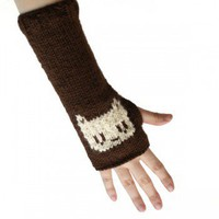 Chocolate Kitty Arm Warmers