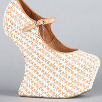 The Nightwalk Shoe in Ivory Crochet and Burnt Orange : Jeffrey Campbell : Karmaloop.com - Global Concrete Culture