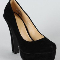 Debie-1 Almond Toe Platform Pump