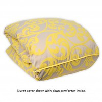 Wake Up Frankie - Le Grande Scroll Duvet - Sunshine Yellow (25% off!) : Teen Bedding, Pink Bedding, Dorm Bedding, Teen Comforters