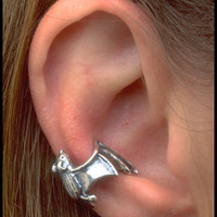 Silver Bat Ear Cuff