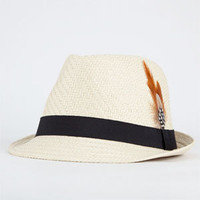Feather Straw Womens Fedora 190702423 | hats | Tillys.com