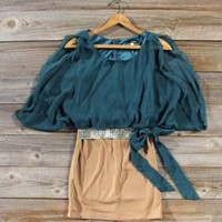 Emerald & Tan large Spool72 dress