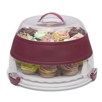 Collapsible Cupcake and Cake Carrier | Transport your cakes. Kitchen Krafts