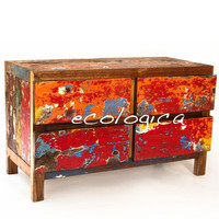 FourDrawer Dresser / Chest / TV Console by EcologicaMalibu on Etsy