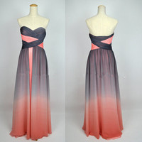Cheap New Style 2013 A Line Strapless Sweetheart Long Chiffon Prom Dresses from 2013 New Dresses