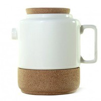 Cork Whistler White Tea Pot