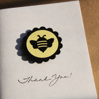 Bee Thank You Cards Baby Shower Birthday by RoyalRegards on Etsy