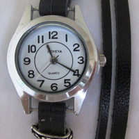 Handmade Leather Bracelet Watch  FREE SHIPPING