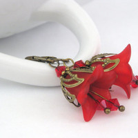 Bellflower red earrings