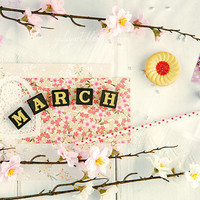 March spring romantic photograph print shabby by GoldenSection