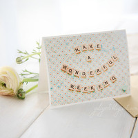 Handmade greeting card gift for mom romantic love by GoldenSection