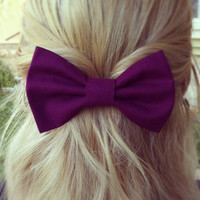 BIG Purple hair bow (S-N-009)