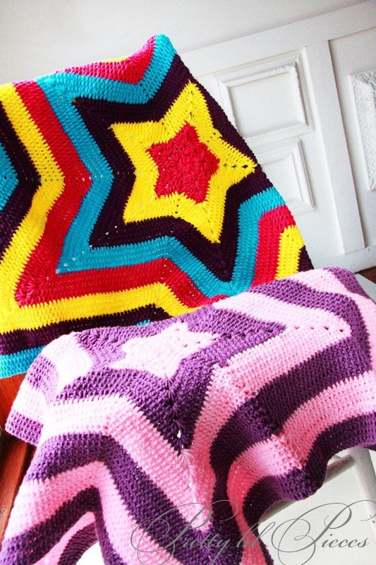 Custom order star baby afghan in your choice of by prettylilpieces