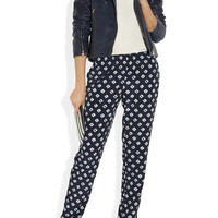 MICHAEL Michael Kors|Printed matte-satin pants|NET-A-PORTER.COM