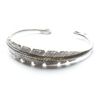 Brandy ♥ Melville |  Silver Feather Bangle - Just In