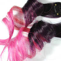 Plum Burst / Human Hair Extension / Purple Pink by MissVioletLace