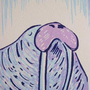 Walrus Hand pulled Screenprint by fiskandfern on Etsy
