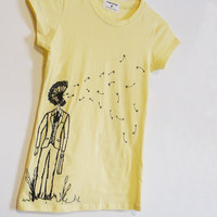 Dandelion Tshirt Womens Yellow Small by CyanideStitches on Etsy