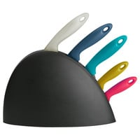 SLIPAD Knife block with 5 knives - IKEA