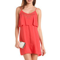 Studded Ruffle Tank Dress: Charlotte Russe