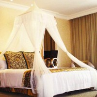 White Square Top Bed Canopy - Holiday Resort Style: Home & Kitchen