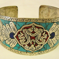 Turquoise Inlay Bangle