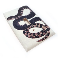 Light switch plate white and black snake switch by summittdesigns