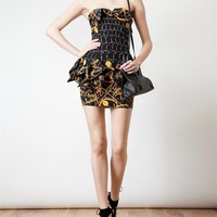 Browns fashion & designer clothes & clothing | JEREMY SCOTT | Printed Stretch Silk Dress