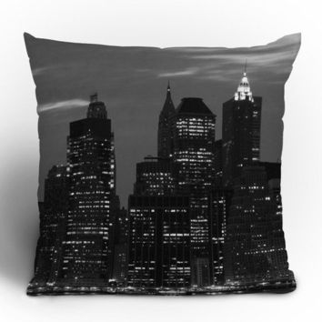"Leonidas Oxby New York Financial District Throw Pillow - Indoor / 26"" x 26"" / Pillow Cover Only"