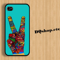 iPhone 5 Case Peace No War Colorfuls Style - iPhone 4 Case Samsung Galaxy S3 Case