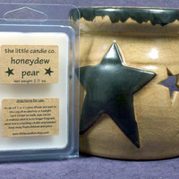 Soy Wax Melt // Honeydew Pear // Highly Scented Soy Wax Tart // Mother's Day Gift // Primitive Home Decor