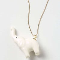 Anthropologie - Elephant Salute Necklace
