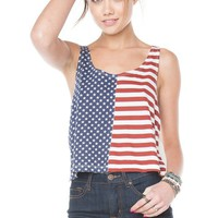 Brandy ♥ Melville |  Mirella Flag Tank - Clothing