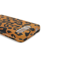 Motorola ELECTRIFY M XT901 CASE BROWN LEOPARD FACEPLATE HARD COVER US CELLULAR