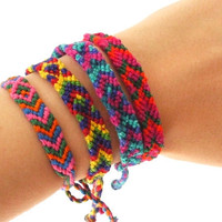 10 pack of Friendship Bracelets Colorful Tribal Style by sweetllamasupplies
