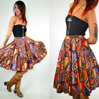 NAVAJO LOVE high waisted full circle skirt