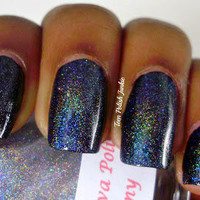 Dreamy linear holographic topcoat Nail Polish by DarlingDivaPolish
