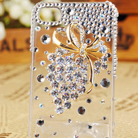 Apple iPhone 4S 4G 3GS iPod Touch Crystals Grapes Transparent Clear Back Case Cover - GULLEITRUSTMART.COM