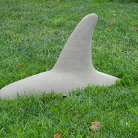 Killer Whale Fin Garden Ornament, Sculpture 19 1/2&quot; Long