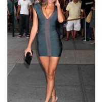 Starry Dress Dark Green Bandage Dress