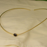 Simple circlet with a stone by PseudoPixy on Etsy