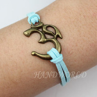 Yoga bracelet charm bracelet antique bronze om symbol bracelet jewelry bracelet personalized charm bracelet -N1162