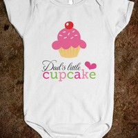 Dad's little cupcake cute baby girl jumpsuit - Bright and Breezy - Skreened T-shirts, Organic Shirts, Hoodies, Kids Tees, Baby One-Pieces and Tote Bags