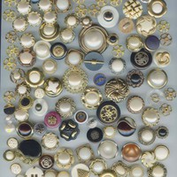 327 craft buttons plastic metalized plastic and a few metal